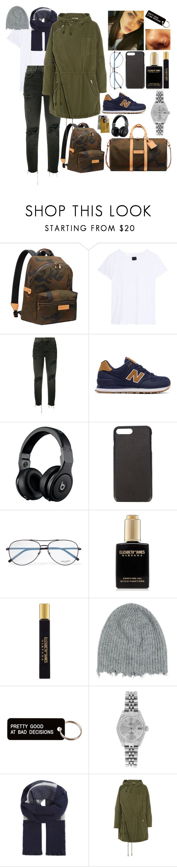 """Untitled #1001"" by sabri-belieber ❤ liked on Polyvore featuring Louis Vuitton, RtA, GRLFRND, New Balance, Beats by Dr. Dre, Rick Owens, Yves Saint Laurent, Elizabeth and James, MSGM and Various Projects"