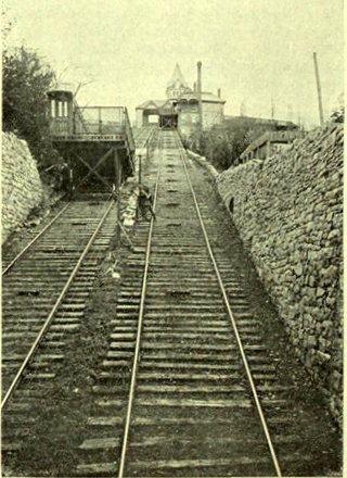 Hamilton & Barton Incline Railway at Hamilton, Ontario, Canada about 1904