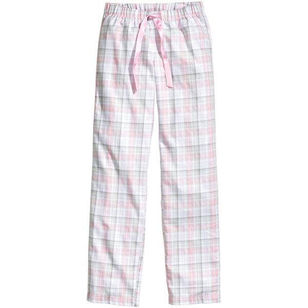 H&M Pyjama trousers (£6) ❤ liked on Polyvore featuring intimates, sleepwear, pajamas, jeans / pants / leggings, nightwear, pyjama, flannel sleepwear, flannel pyjamas, flannel pajama bottoms and flannel pajamas