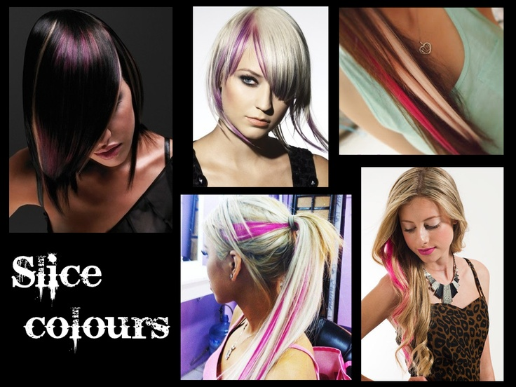 slice hair colours pink purple green blue blonde brown hair  extensions 2012 2013 trend celebrity #hairrichextensions