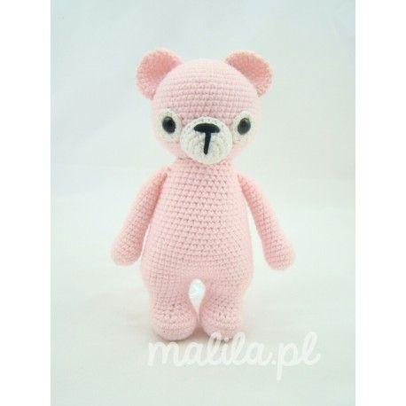 Klasyczny niedźwiadek o niewielkich wymiarach, idealna ozdoba pokoju dziecięcego.