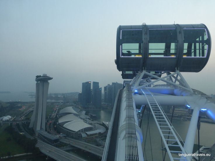 Aboard the Singapore Flyer. I reckon there should be space for a mini-milonga in one of those carriages (or simultaneous milongas in each of them)
