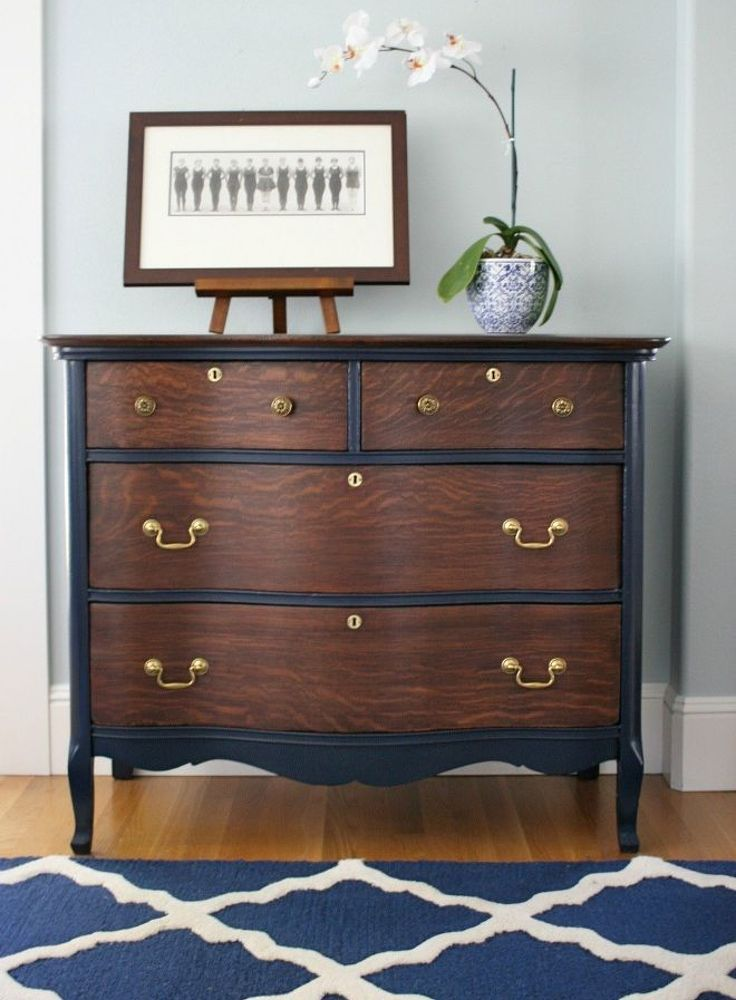 Vintage dresser restoration before and after vintage Images of painted furniture