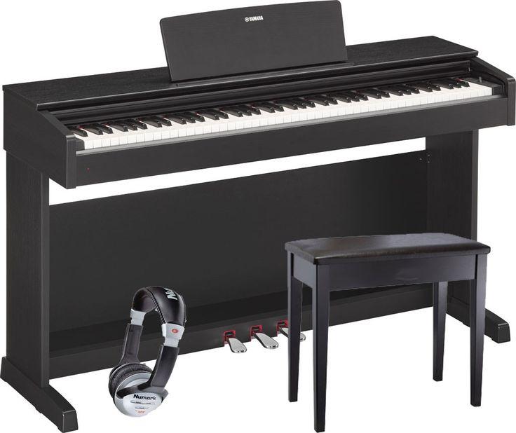 Piano numérique meuble YAMAHA YDP143 NOIR + Banquette + CASQUE Mêmes caractérisrtiques que le Yamaha ARIUS YDP143B , livré avec sa banquette et un casqueCARACTERISTIQUES TECHNIQUES  Clavier 88 notes type GHS Réglage du toucher: Hard/Medium/Soft/fixed 3 p&eacut