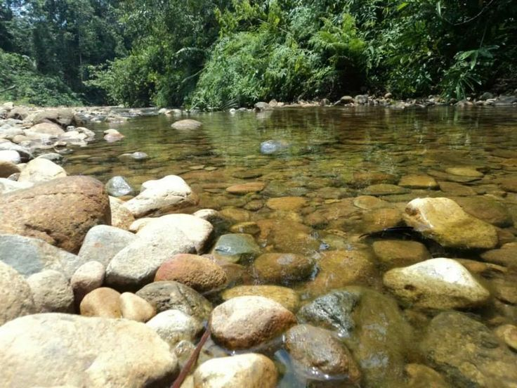 Clear river water