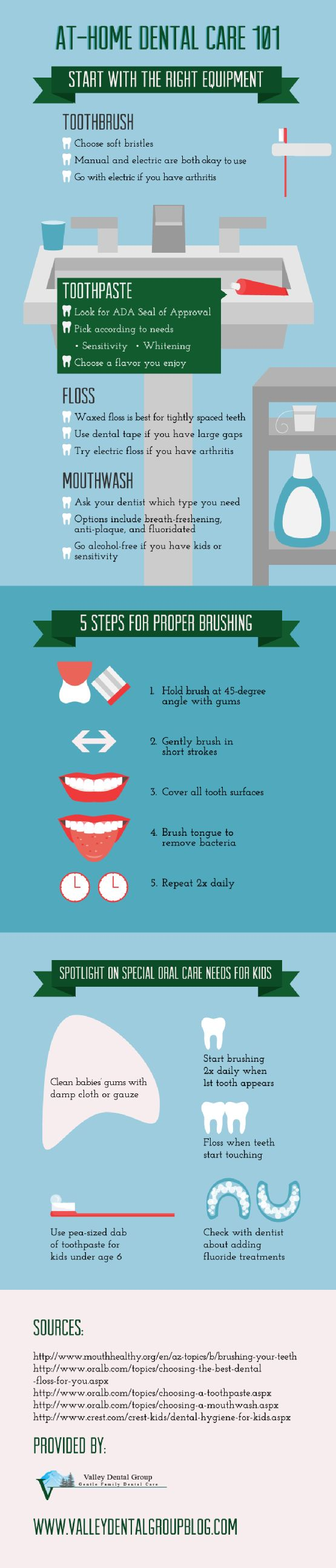 Are you brushing your teeth correctly? Start by hold the brush at a 45-degree angle with your gums. Gently brush in short strokes and cover all tooth surfaces. Take a look at this infographic from a pediatric dentist in Renton to learn more about proper brushing.