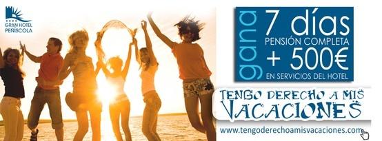 Regalamos hasta 8 estancias en Gran Hotel Peñíscola. ¡No te lo pierdas! https://www.facebook.com/GHPWS/app_256593927709045