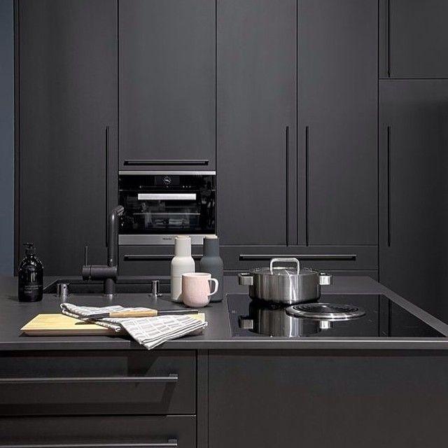 Instagram media by thelittleinterior - #black #kitchen #interiordesign #design…