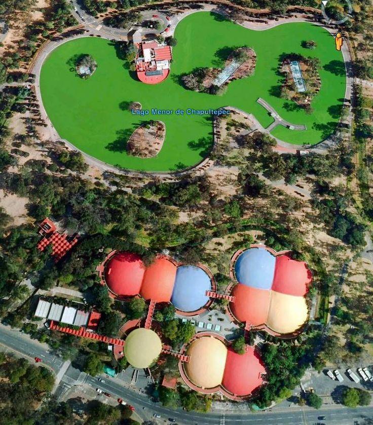 Vista aérea, Museo de Historia Natural y Cultura Ambiental en Bosque de Chapultepec