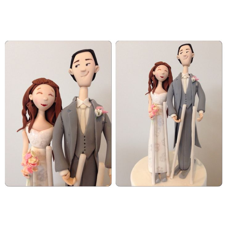 Bride and groom in gumpaste, (on skis!) adapted from the wonderful Carlos Lischetti design.