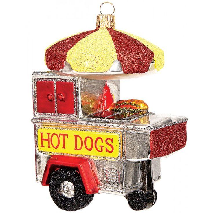 Gartenschätze: Christbaumschmuck Hot Dog Stand