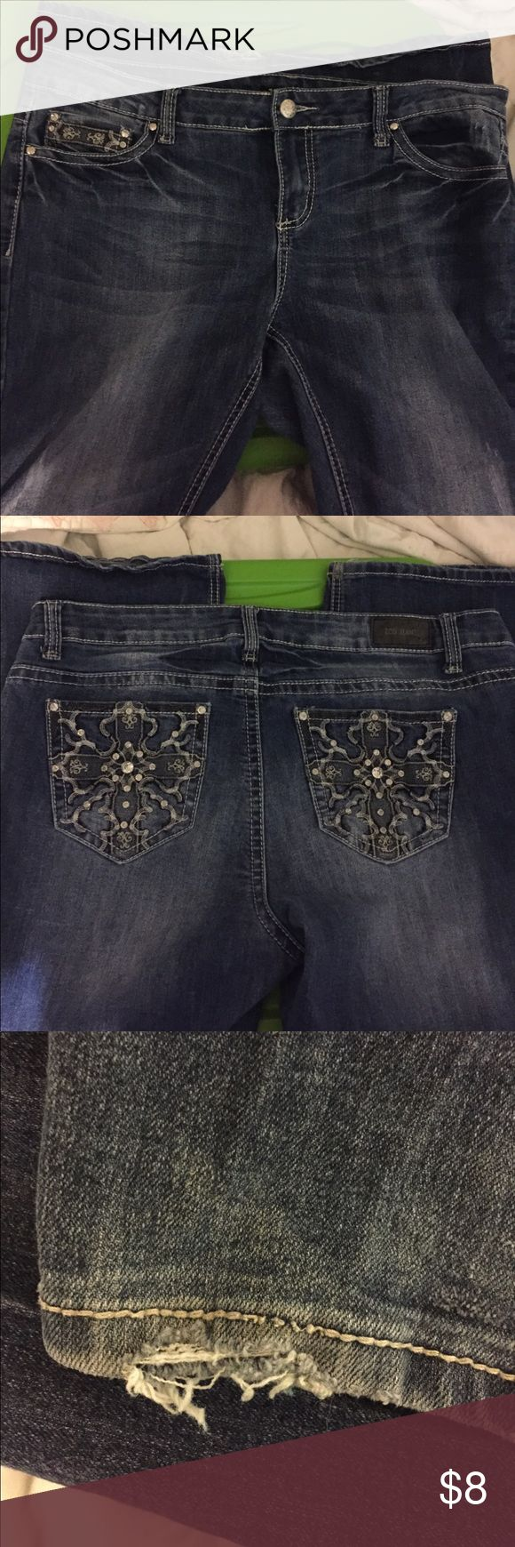 ZCO jeans ZCO jeans good condition with some freying one one leg in hem as shown in pic size 18 ZCO Jeans Straight Leg