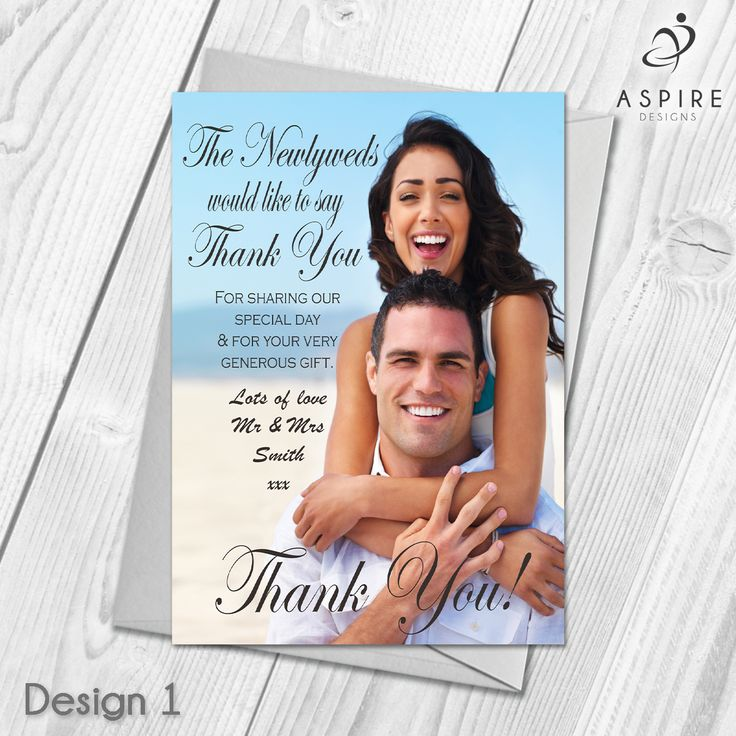thank you card wording wedding no gift%0A Personalised Wedding Guest Thank You Cards  u     Envelopes