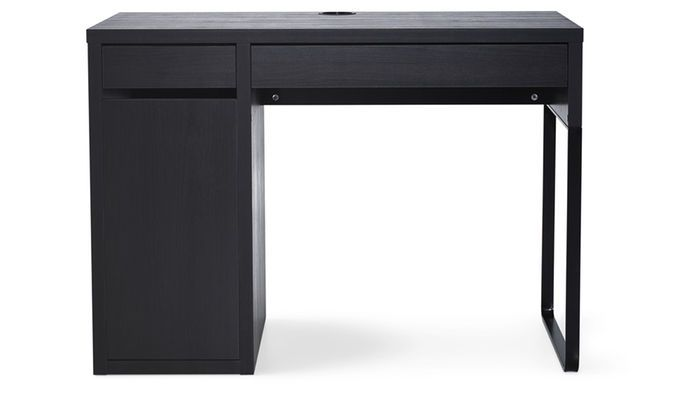 A Black Micke Desk With Drawers For Storage Is Great For Kids Aged 8 12 Childrens Desk And Chair Contemporary Home Office Furniture Ikea Desk