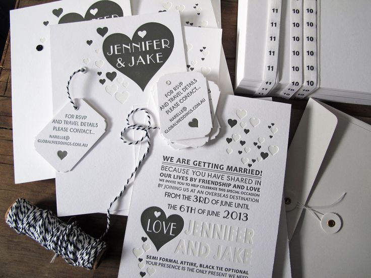Jennifer Hawkins and Jake Wall's wedding invitation    Letterpress printed @ the collectors room