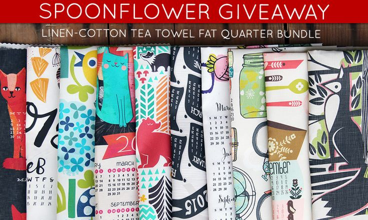 Check out this week's Spoonflower giveaway-- a chance to win 10 tea towel calendars!