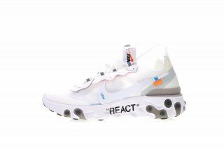 8a1ec4c2f3c Off white x Nike Upcoming React Element 87 White Cone Ice Blue AQ0068-100 Women s  Men s Running Shoes Sneakers