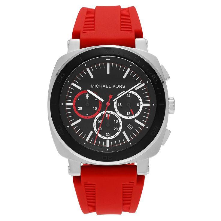 Michael Kors Men's MK8552 'Bax' Stainless Steel Black Chronograph Dial Strap Watch