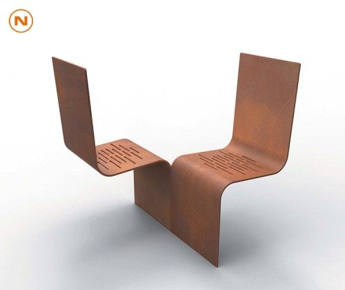 Duo Du0027assises EVOL, Guyon, Mobilier Urbain / EVOL Duo Of Seats, Guyon,  Street Furniture