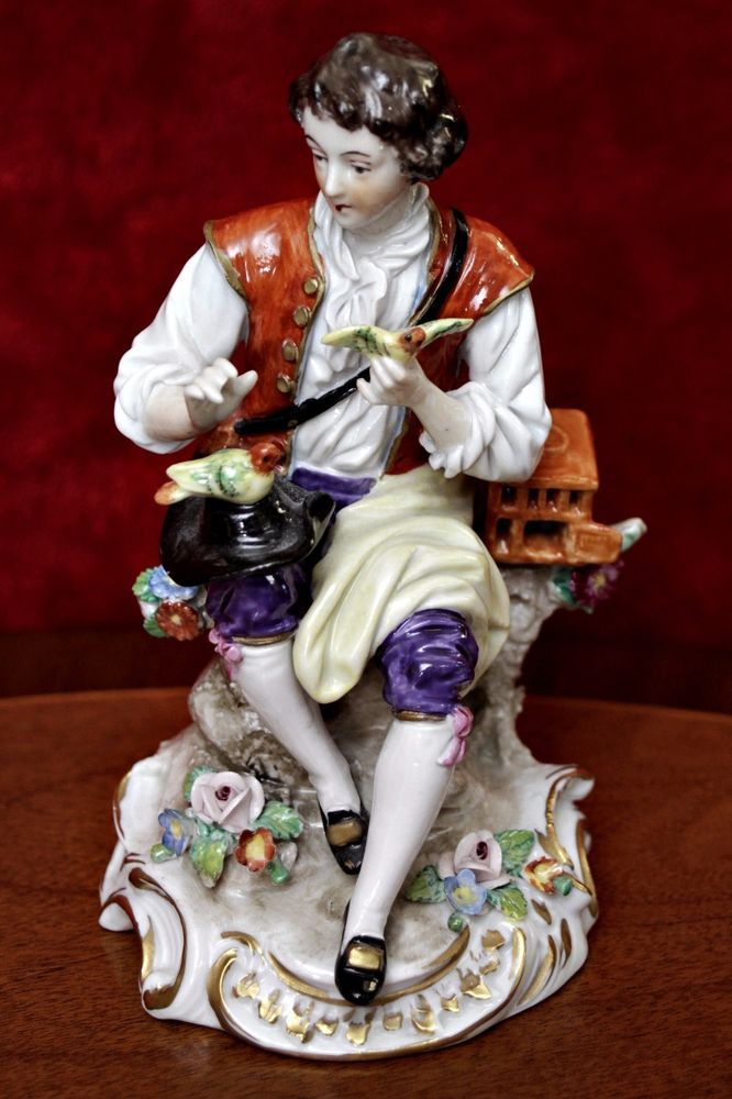 Antique German  Sitzendorf  Porcelain Figurine