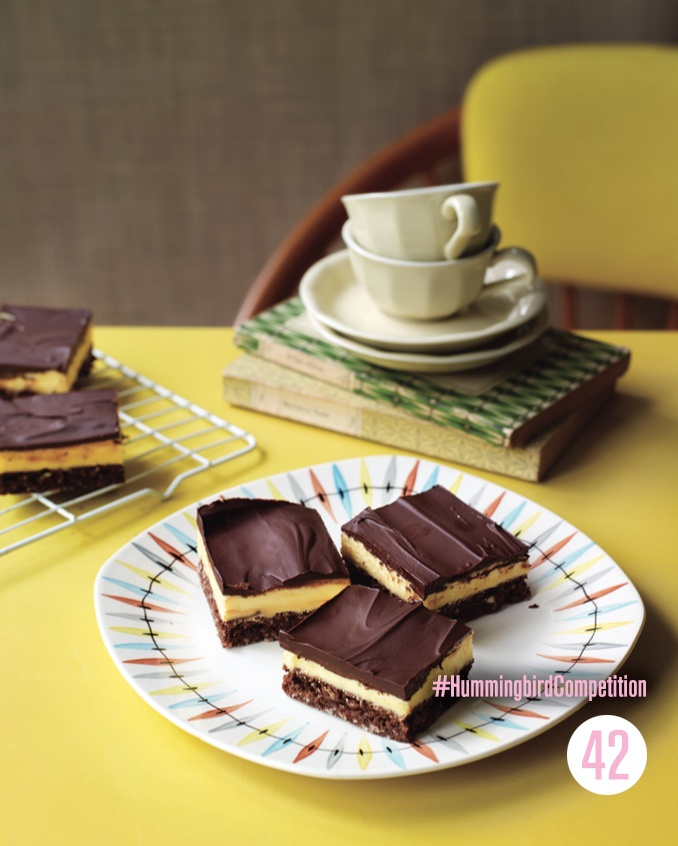Chocolate Custard Squares. Enter our #HummingbirdCompetition by March 6th, 2013 for a chance to win 1 of 3 free Home Sweet Home cookbooks. Rules and how to enter can be found here: www.facebook.com/...