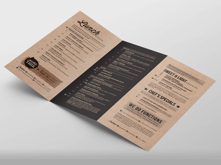Menu design for Yoco Eatery by Pink Pigeon Graphic Design © www.pinkpigeon.co.za