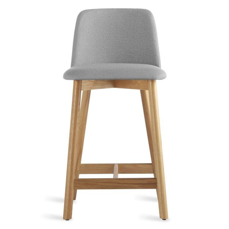 chip modern leather counter stool with back blu dot - Fantastisch Kochinseln