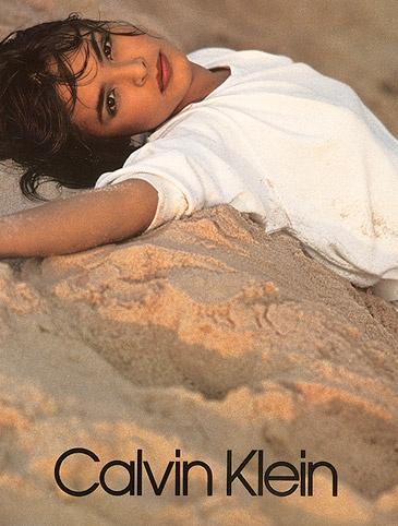 Talisa Soto for Calvin Klein.