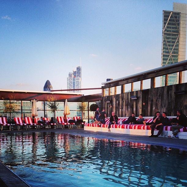 Visit Shoreditch House roof terrace/ pool/ bar/ etc. - party memories :-)