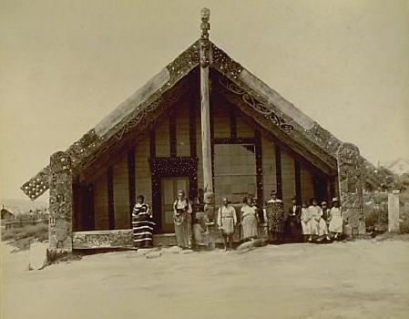 Tamatekapua at Ohinemutu, Rotorua a long time ago.