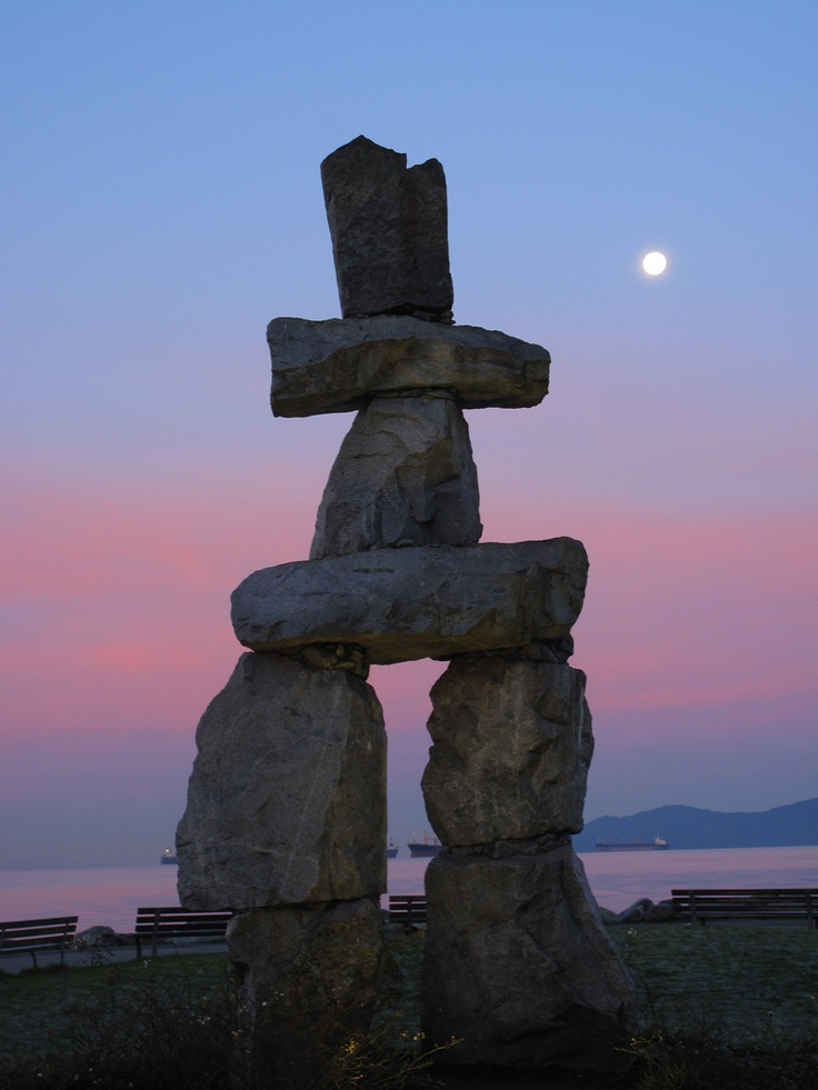Inukshuk in English Bay ~ Vancouver