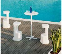 The Serif stool is the perfect choice for outdoor bar areas. #contractfurniture #barstools #outdoorfurniture