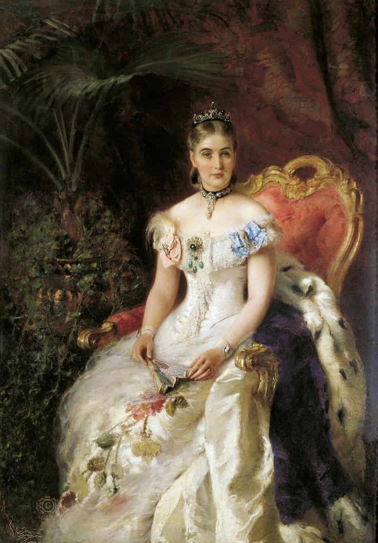 Портрет Марии Михайловны Волконской. Холст, масло. 177х137 см.