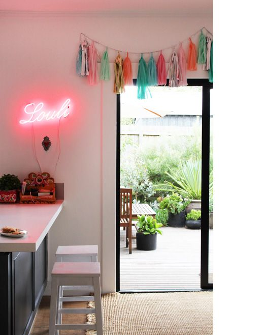 who wouldn't love a custom made neon sign in the kitchen
