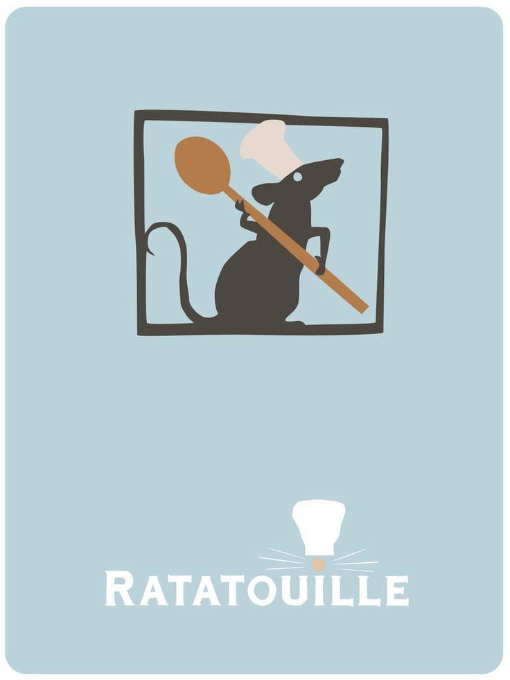 #PIXAR #Minimal_Design_Poster #Ratatouille #レミーのおいしいレストラン #ピクサー #ミニマルデザイン_ポスター