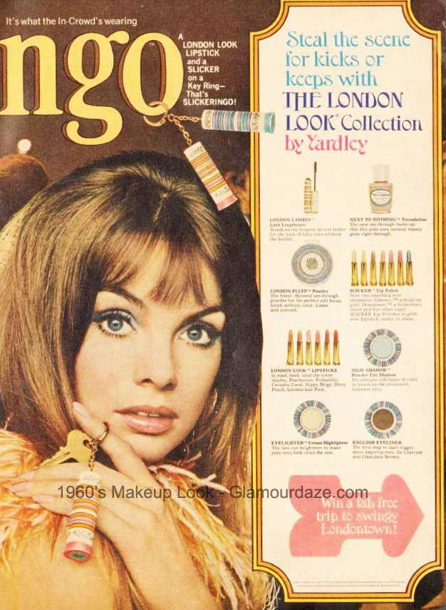 The London Look Collection by Yardley. Model: Jean Shrimpton