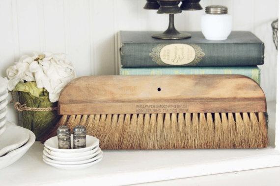 Vintage Wall Papar Brush Vintage Home Decor by blondiensc on Etsy, $14.50