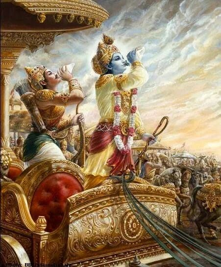 Lord Krishna and Arjuna
