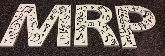 Music letters by AtoZCustomLetters on Etsy