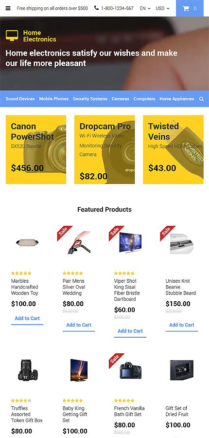 Electronics website inspirations at your coffee break? Browse for more OpenCart #templates! // Regular price: $89 // Sources available: .PSD, .PNG, .PHP, .TPL, .JS #Electronics #OpenCart