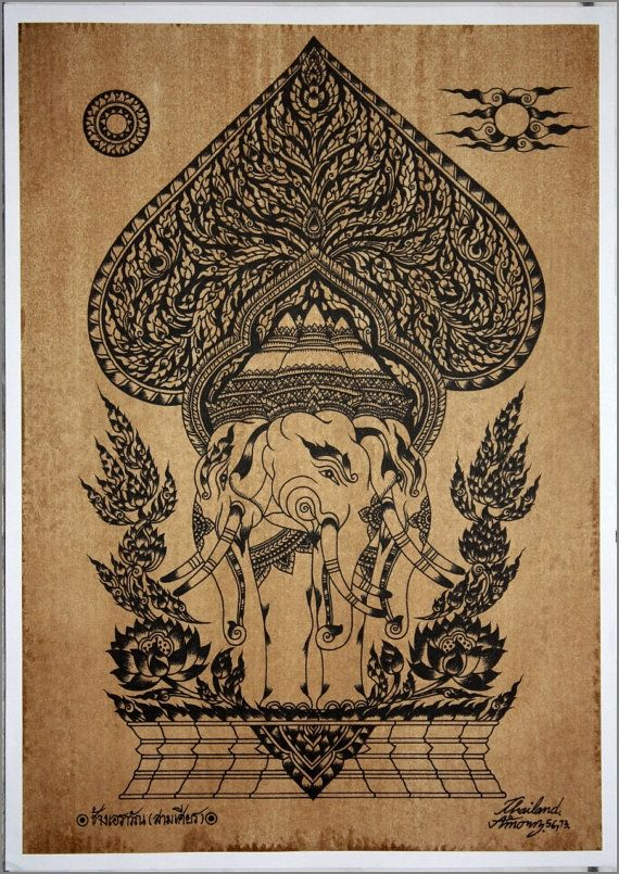 1000 images about tattoo hamsa elephant on pinterest for Laos tattoo designs