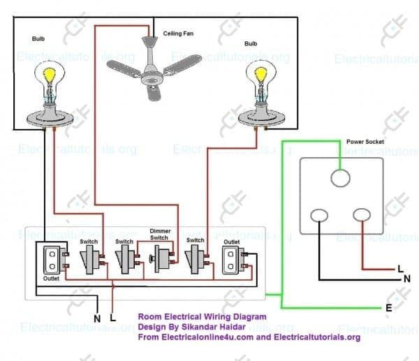 Electrical Wiring Diagram For A House, Home Wiring Diagram