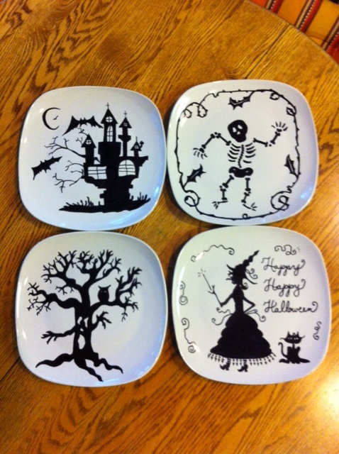 great halloween plate set - Halloween Plates Ceramic