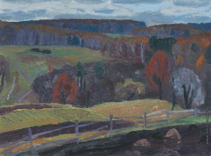 Попков Виктор Ефимович [1932—1974] Осенние дали. 1969