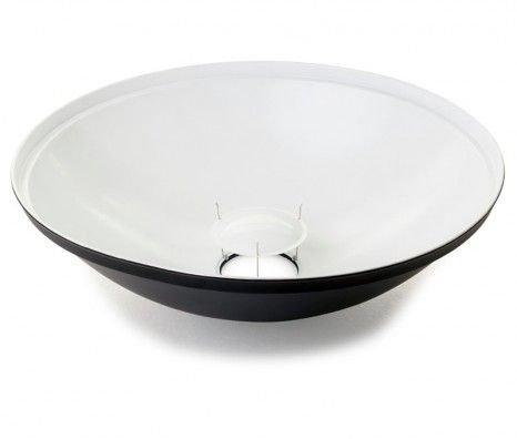 Seamless Beauty Dish 75 - White Lined