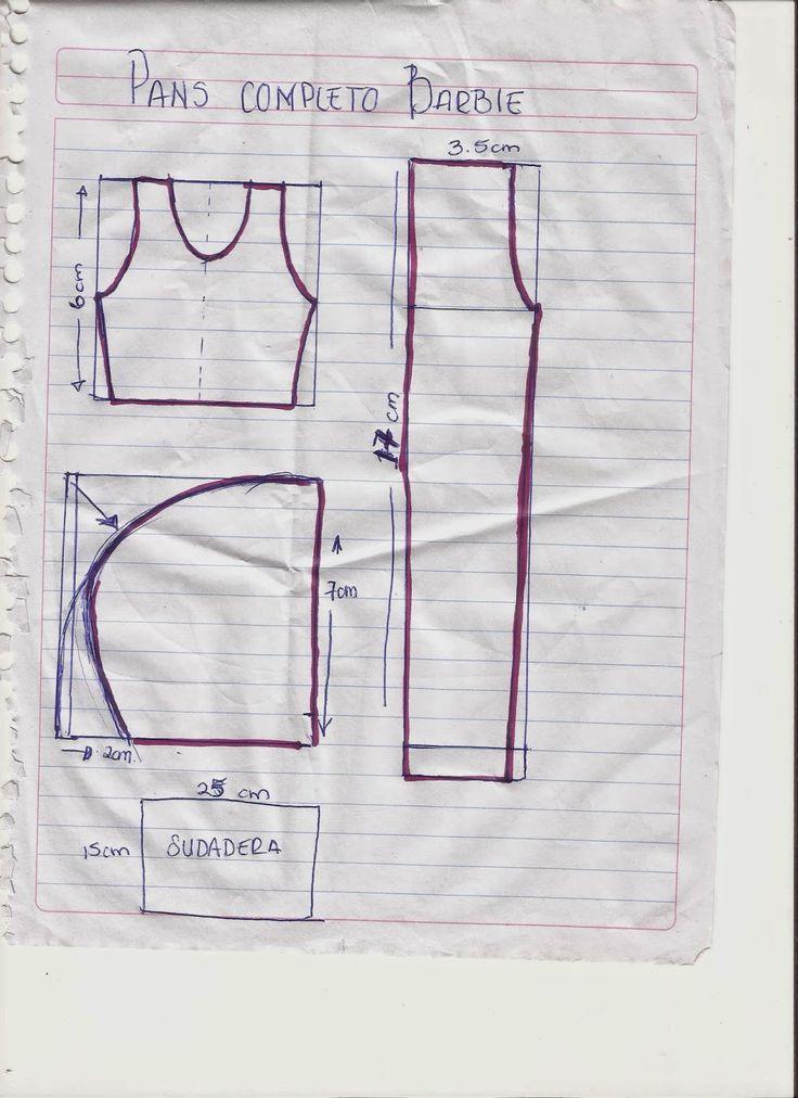 CREANDO IDEAS por EDITH5866: COMO HACEr PANS cOMPLETo PaRa BARbies (INCLUYE paN...
