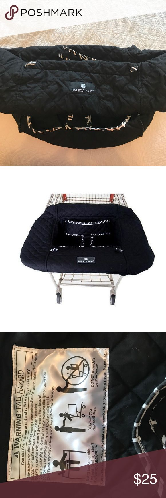 Balboa Baby Shopping Cart Cover Black and white shopping cart cover by Balboa Baby for sale! Gently used but in fabulous condition! Balboa Baby Accessories