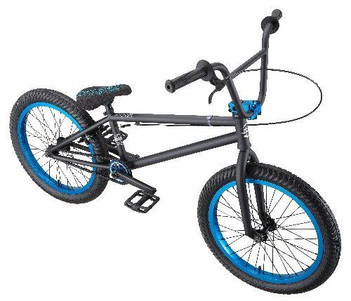 Eastern Bikes Chief BMX Bike (Matte Black with Blue, 20-Inch) - World of Cycling - The Internet Bicycle Store