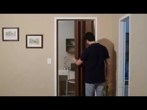 BCF - Instalação completa das Portas Sanfonadas - YouTube