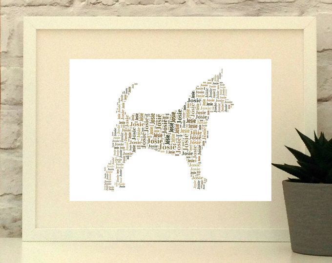 Chihuahua Dog Personalised Print, custom pet portrait, Chihuahua portrait, Chihuahua Poster